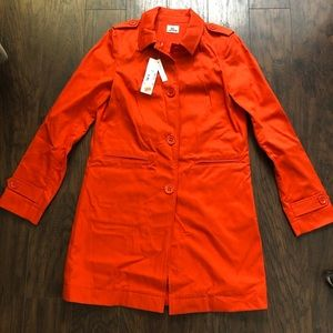 Lacoste Orange Spring coat
